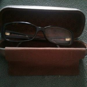 Womans Gucci Eyeglass Frames and glass case